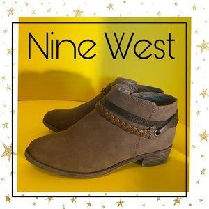 Nine West Girl's Brown Zipper Booties 3